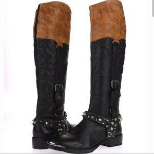 SAM EDELMAN Stud Leather Boots